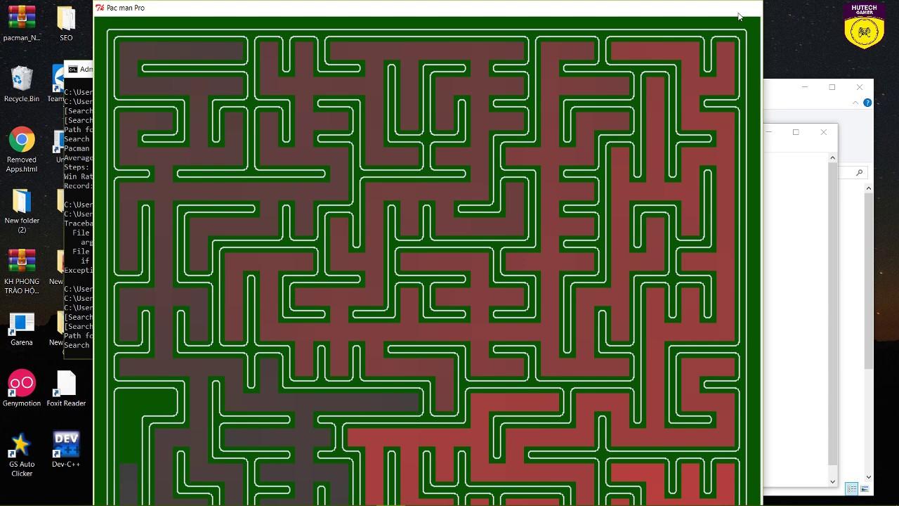 PACMAN code Python algorithm A* DFS, BFS, UCC