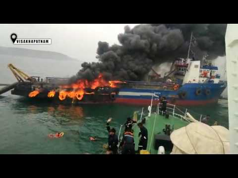 Offshore support ship catches fire off Vizag; one crew member missing