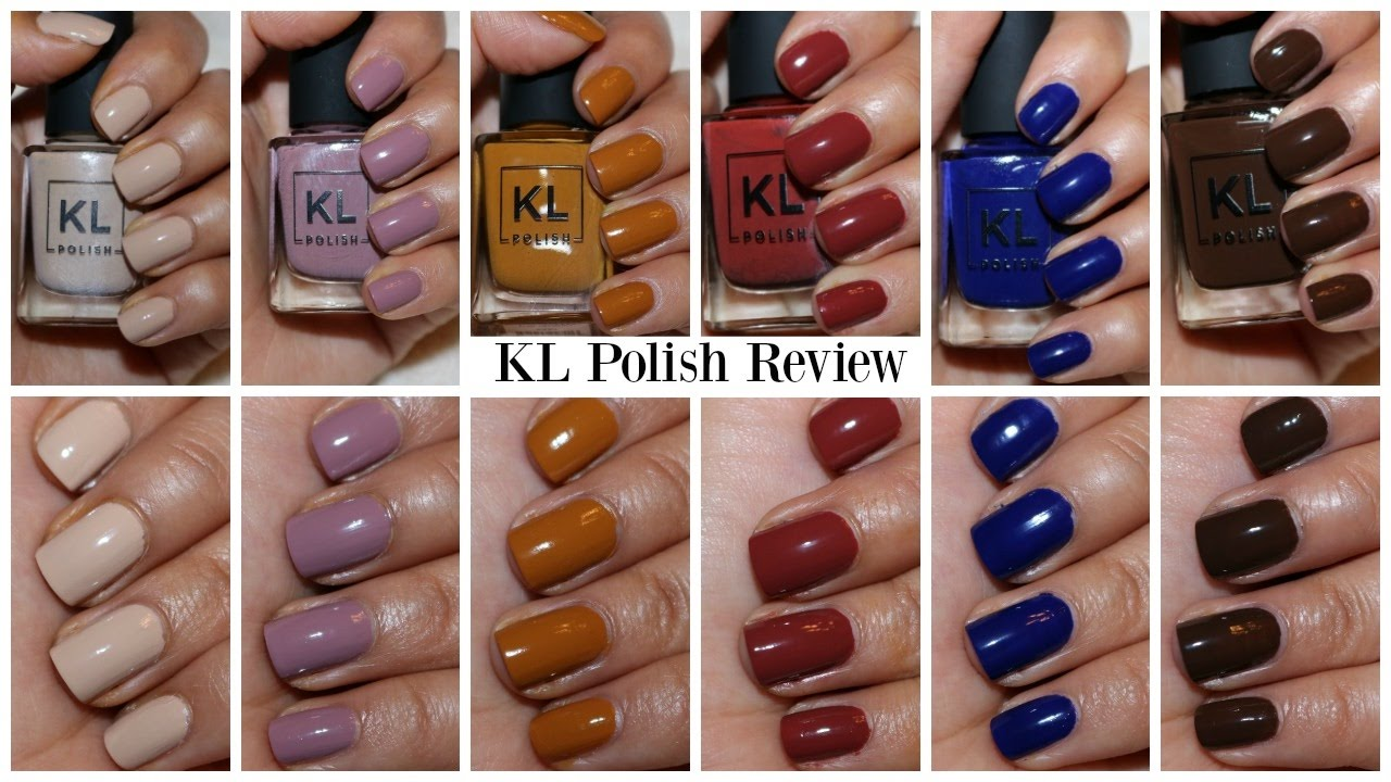 KL Polish Review and Swatches | Virginiaaaxo - YouTube