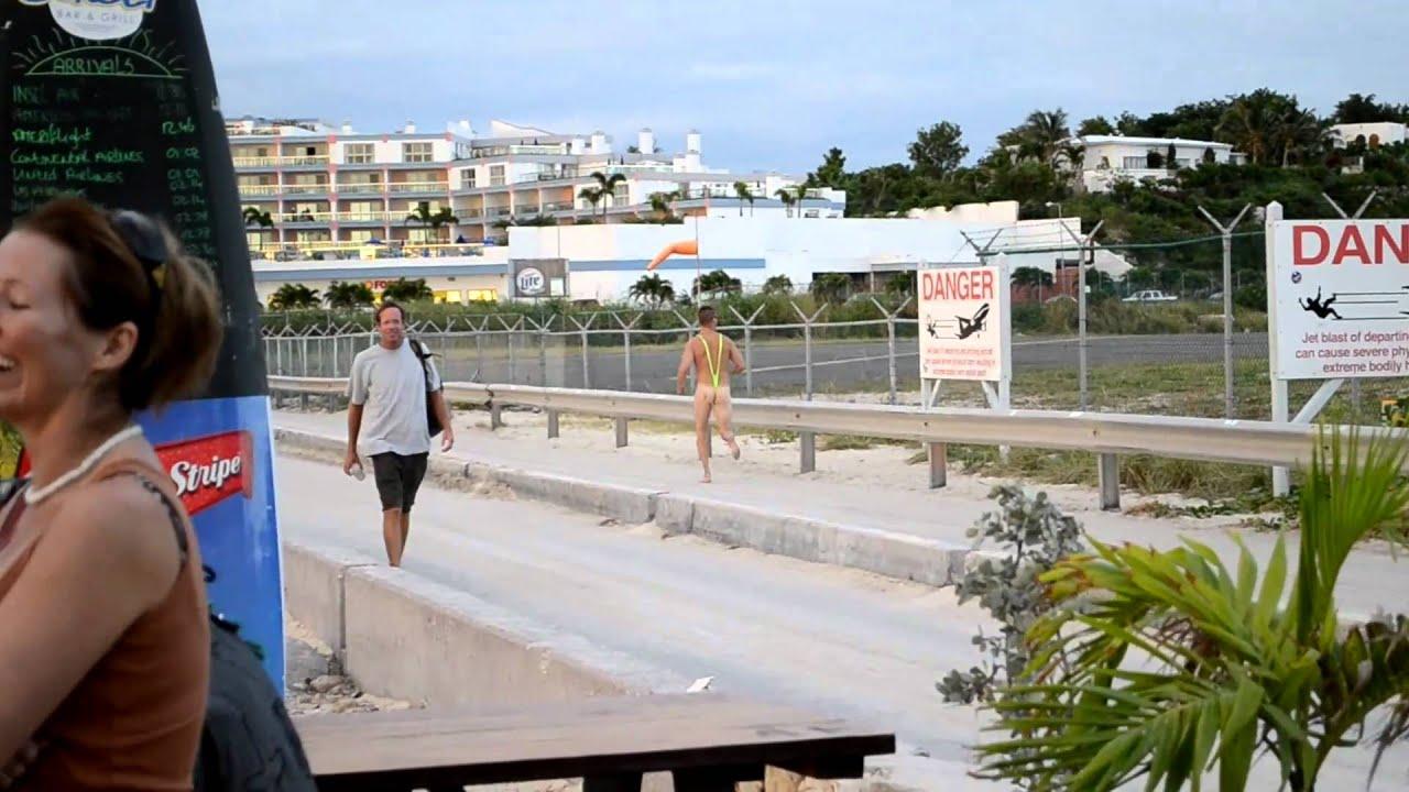 Borat Mankini Sighting At Sunset Beach Bar St Maarten 2010