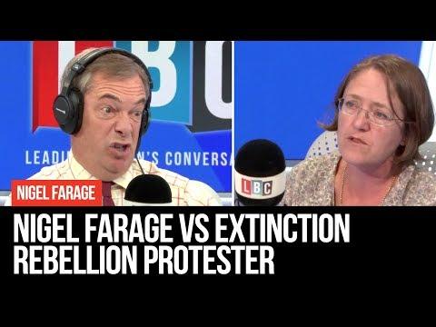 Nigel Farage Vs Extinction Rebellion Protester