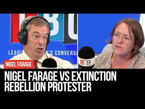 Nigel Farage Vs Extinction Rebellion Protester