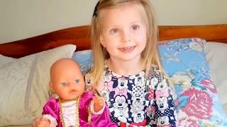 ЭЛЬВИРА и КАТЯ Игры для детей.Санки для беби бон.про куклы. Кукла беби борн и живая кукла Беби борн