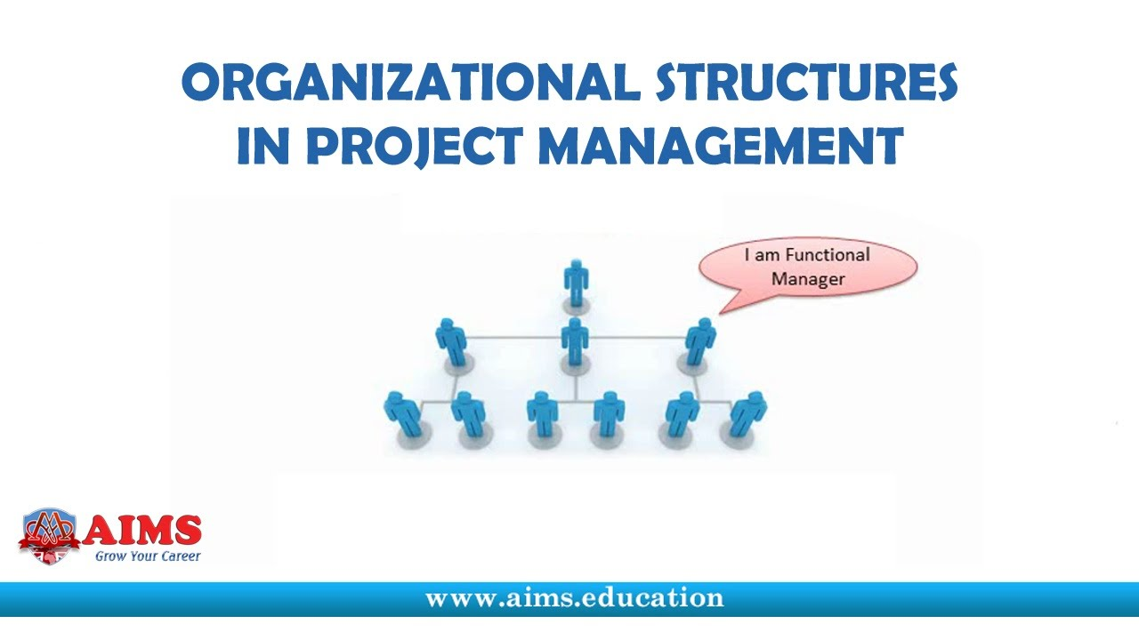 Project Management Organizational Structure - Its Definition, Types and Charts | AIMS Lecture. Lecture: Project Management Organizational Structure http://www.aims.education/study-online/project-management-organizational-structure/ It is an enterprise .... Youtube video for project managers.