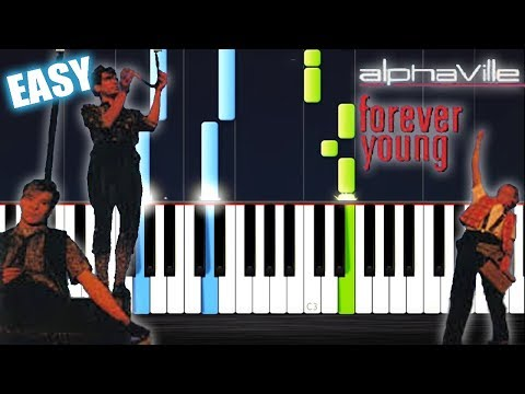 Alphaville - Forever Young - EASY Piano Tutorial by PlutaX