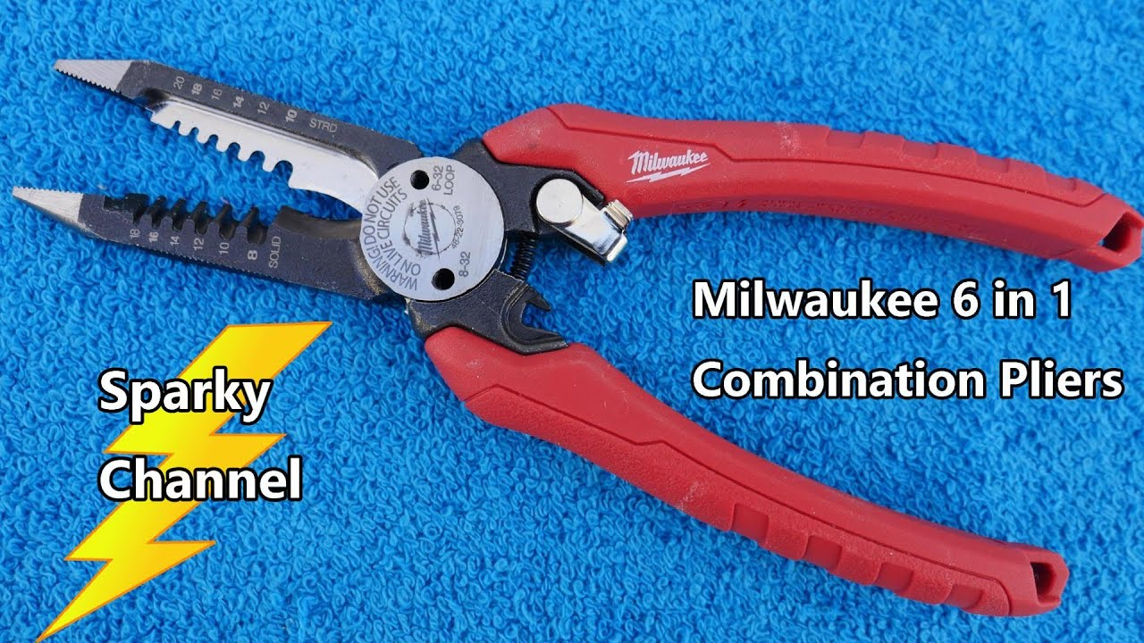 Wire Strippers Cutter 6 in 1 Combination Electricians Tool Needle Compact USA