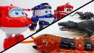 Toys Vs. Toys~! Go Robot Train, Go Super Wings