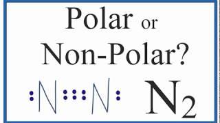 Is N2 Polar Or Non Polar Nitrogen Gas Youtube