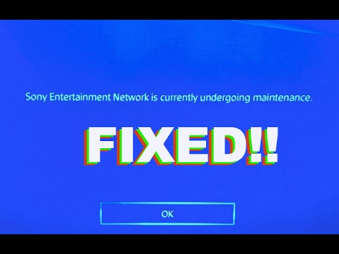 How to fix ps4 undergoing maintenance - YouTube