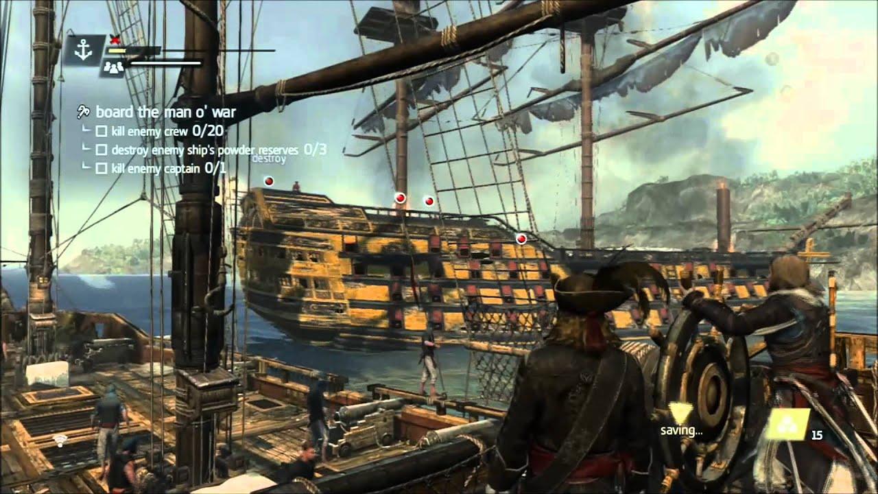 Assassin's Creed 4 Incapacitate the Man o War
