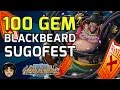 100 Gem Blackbeard Sugofest - He's So Good! [one Piece Treasure Cruise] video