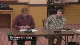 Selectmen Meeting 11/13/17