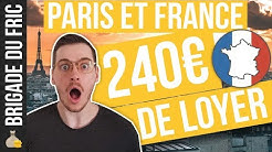 240 Euros de loyer - Paris et France