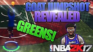 NBA 2K17 • G.O.A.T JUMPSHOT REVEALED! BEST CUSTOM JUMPSHOT ON 2K! - FlyerDaGreat