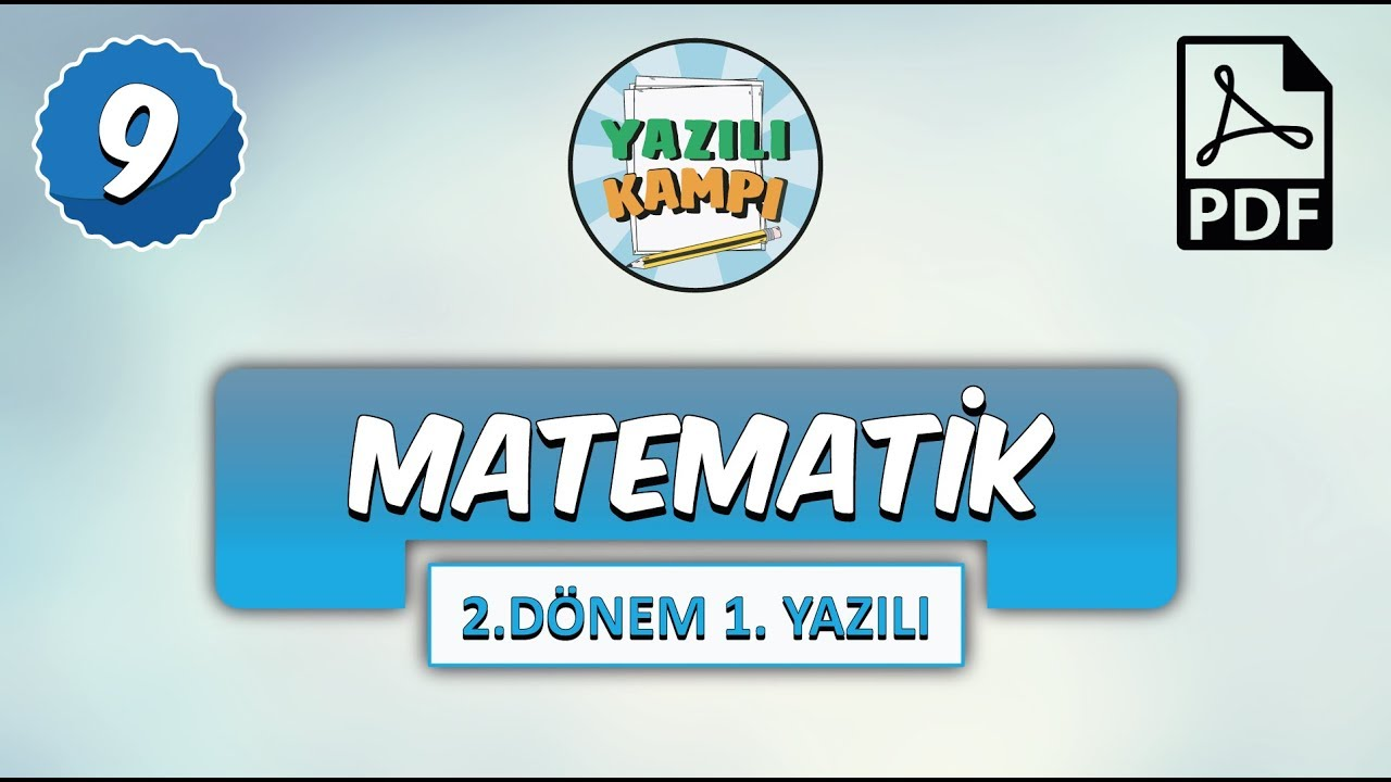 9 Sinif Matematik 2 Donem 1 Yaziliya Hazirlik Youtube