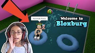 Heyyy she has an indoor pool! bloxburg house tour | roblox | FAMBAM GAMING