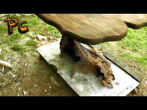 Table Made Of Wood.  Как сделать дубовый стол за 1500 рублей.