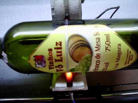 Cortador de garrafas bottle cutter cortar una botella for Cortador de vidrio