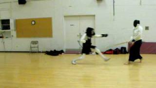 Olympic Fencing vs. Haidong Gumdo part 1 with Olympic fencing rules