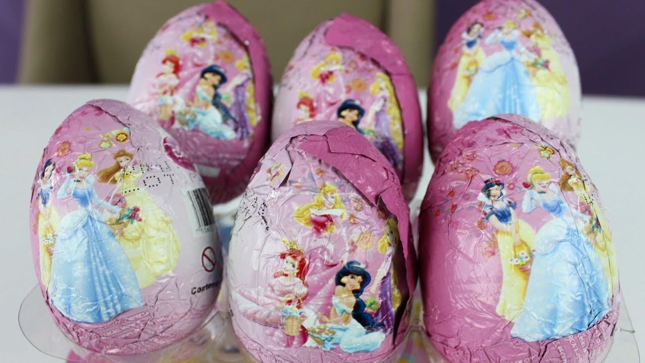 Opening Disney Princess Surprise Eggs Whole Box