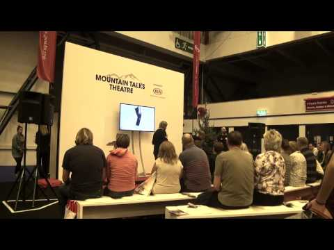 The Mountain Talks Theatre at the 2014 Telegraph Ski & Snowboard show.