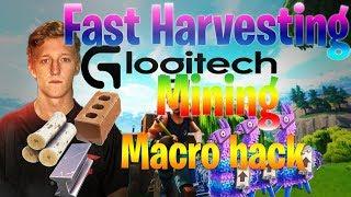 Fortnite - Fast Harvesting MACRO HACK. FOR LOGITECH. 🔥