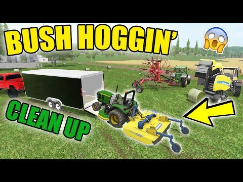 BUSH HOGGING   TALL GRASS   LAWN CLEAN UP   FARMING SIMULATOR 2017