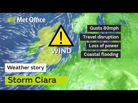 Storm Ciara – This weekend with damaging winds possible