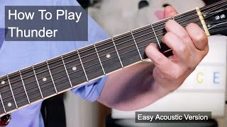 Video 'Thunder' Prince Easy Acoustic Guitar Lesson download MP3, 3GP, MP4, WEBM, AVI, FLV November 2017