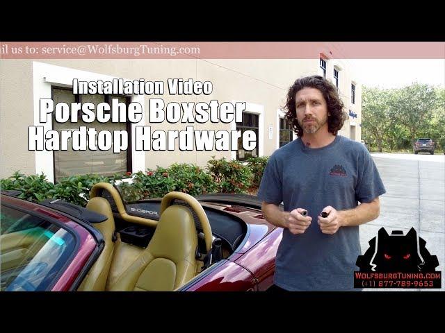 986 Porshe Boxter Hardtop Hardware Installation - WolfsburgTuning.com