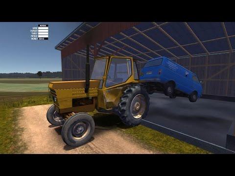 Как поехать на тракторе в my summer car