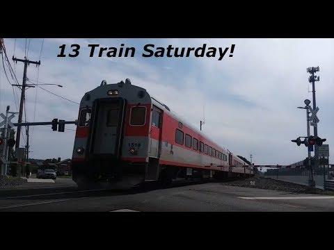 13 Train Saturday On The Springfield Line 8-25-18