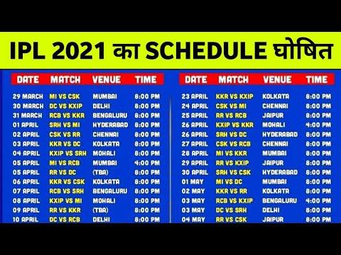List ipl match IPL 2021: