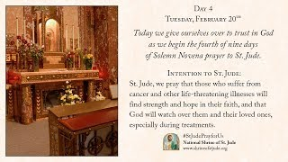 Day 4 of the Winter Solemn Novena to St. Jude