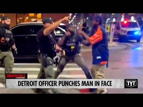 Detroit Officer PUNCHES Man In Face