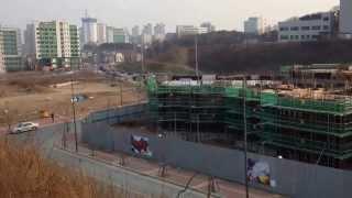광교 경기대역 울트라 참누리 건설 현장