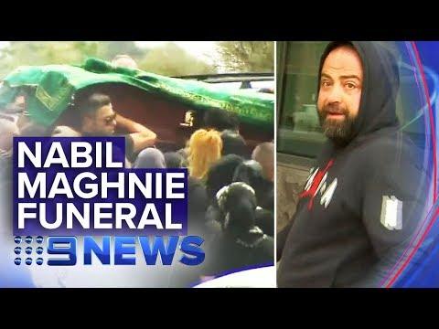 Family And Friends Farewelled Underworld Figure Nabil Maghnie | Nine News Australia