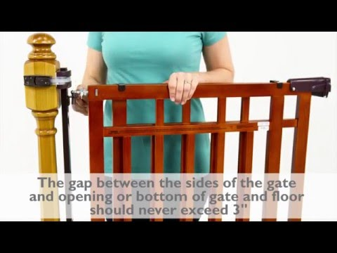 How To Install The Summer Infant Banister U0026 Stair, Top Of Stairs Gate With  Dual Installation Kit   YouTube