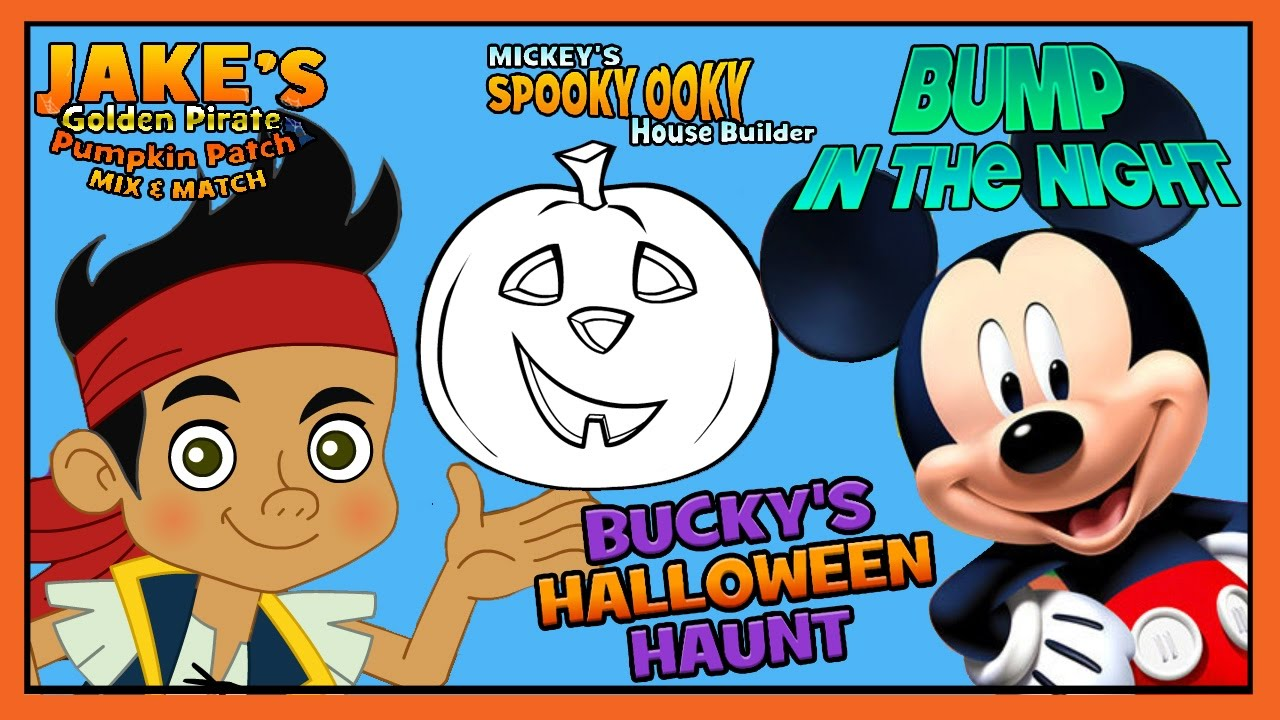 mickey mouse - jake & the neverland pirates halloween games - disney