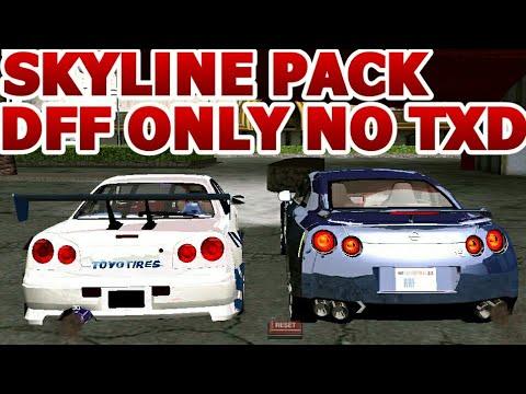 GTA SA ANDROID Nissan Skyline MEGA pack DFF ONLY NO TXD