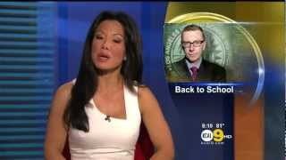 Sharon Tay 2012/08/09 CBSLA/KCAL9 HD; White dress