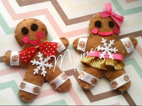 Mu ecos de jengibre decoraciones navide as para mo os galletas de jengibre creactivate - Decoraciones navidenas manualidades ...