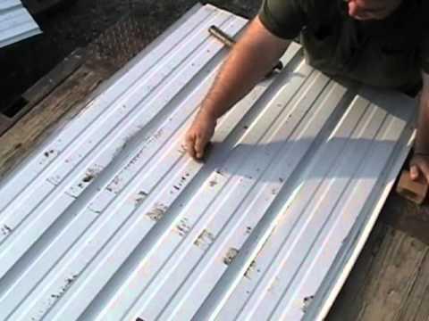 Fabral Tin Metal Roof Dent Repair Youtube