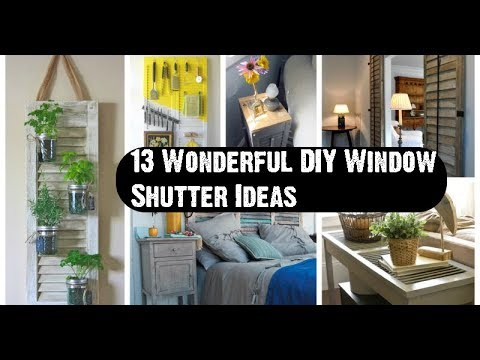 13 Wonderful DIY Window Shutter Ideas