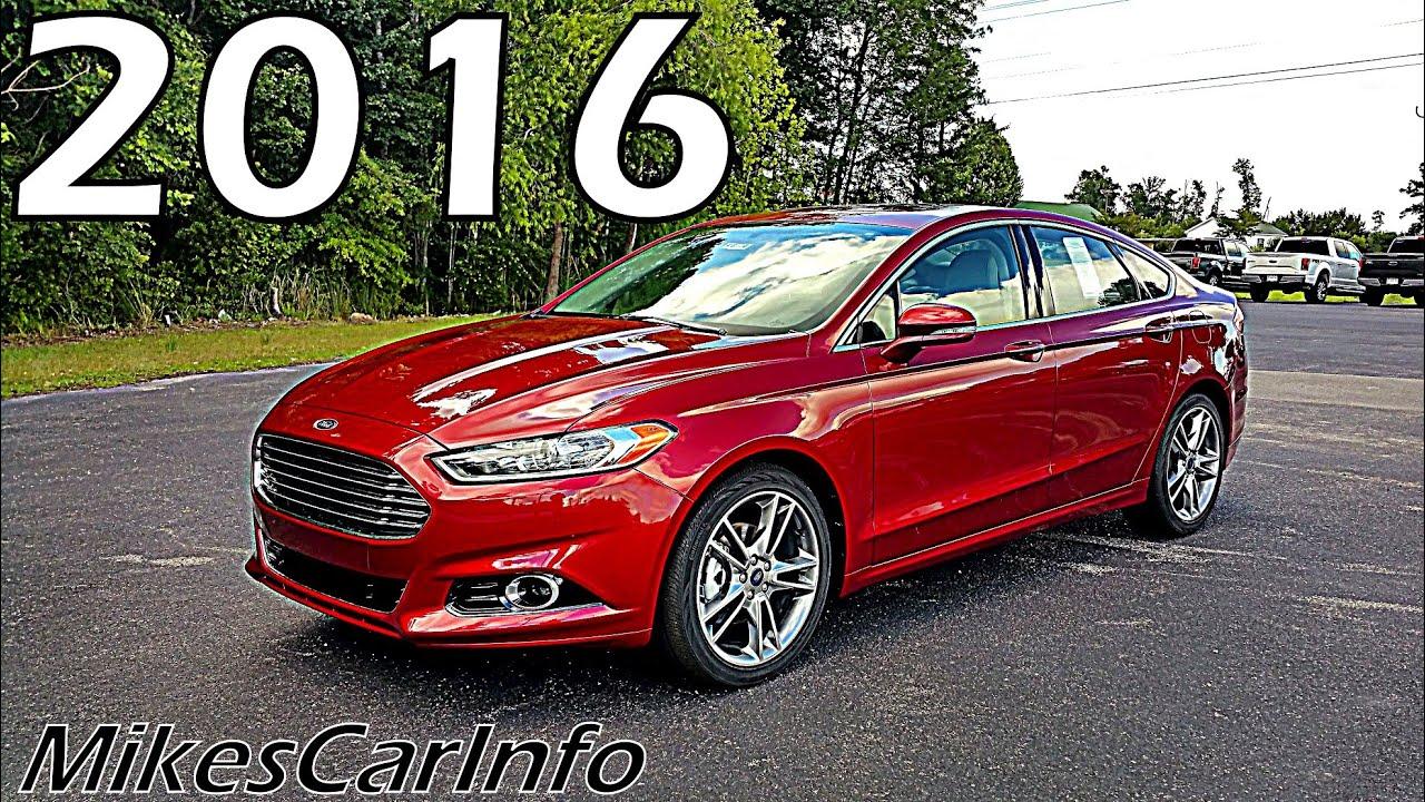 2016 Ford Fusion Titanium Youtube