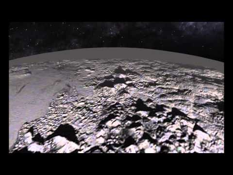 Pluto's Mountains and Plains - a Simulated Flyover | Video