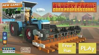 Blocky Farm: Corn Professional