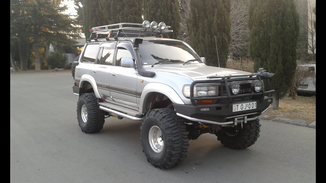 toyota land cruiser 80 off road car tbilisi youtube. Black Bedroom Furniture Sets. Home Design Ideas