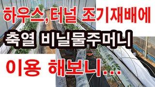 하우스, 터널 조기재배에 축열 비닐물주머니 이용해보니(…