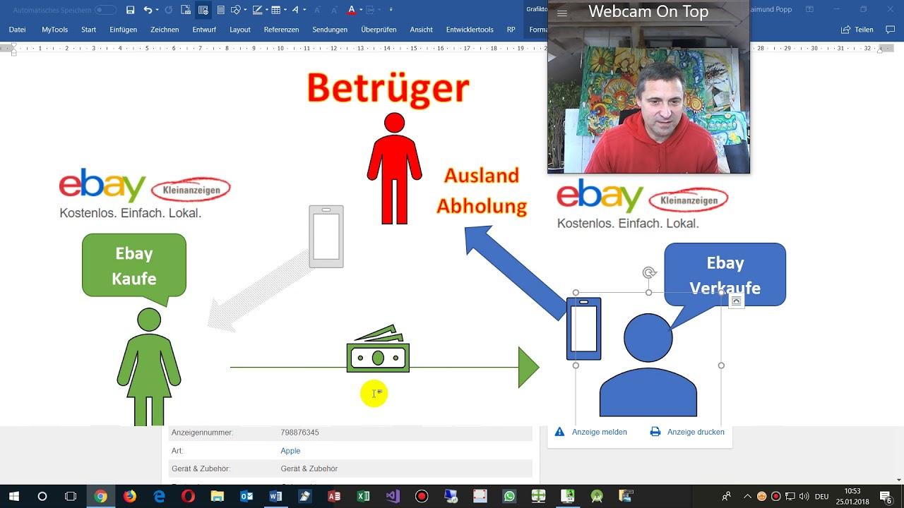 Neuer Betrug Bei Ebay Und Kleinanzeigen Falsche Uberweisung Und Abholung Oder Ausland Youtube
